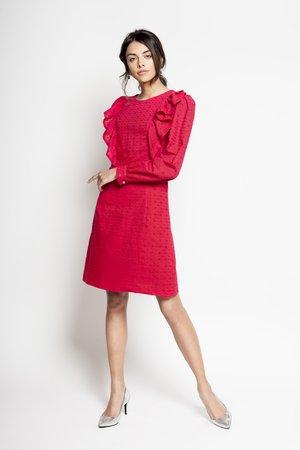Shizen haftowana bawelniana sukienka