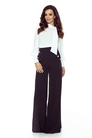 Szerokie spodnie z wysoka talia