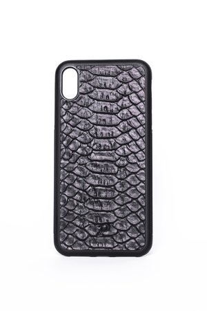 Iphone xr case black python