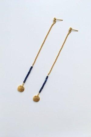 Kolczyki z lapis lazuli divine intution