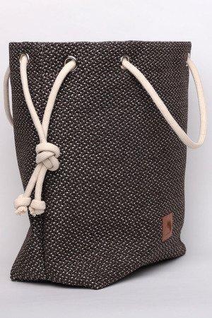 270ca468dbf45 Karolina Audycka - Brązowa torba worek z grubej plecionki