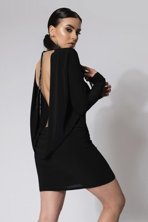 Sukienka mini open back black