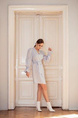 e0646c58e0 SOVL - Sukienka lniana Liryczna niebieska ...