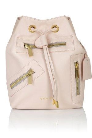 8950644f9afdb GAWOR - Skórzany różowy plecak złote dodatki ...
