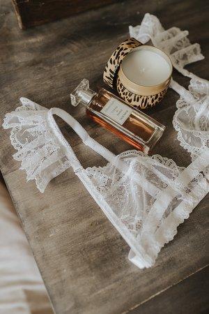 Stanik bialy z motylkami boho bride