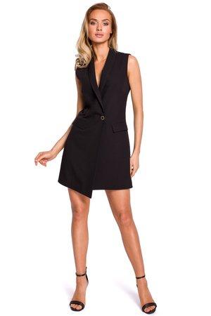 M439 sukienka zakietowa bez rekawow czarna
