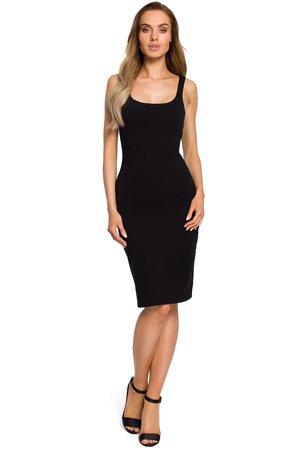 M414 sukienka na ramiaczkach czarna