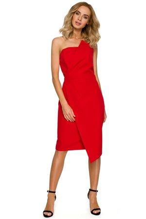 M409 sukienka gorsetowa czerwona