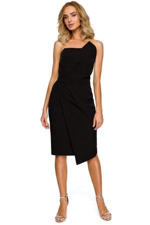 M409 sukienka gorsetowa czarna