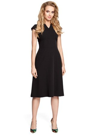 M312 sukienka z szerokim paskiem czarna