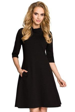 M279 sukienka z golfem czarna