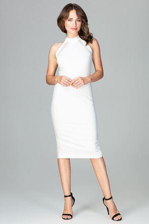 Sukienka k492 ecru