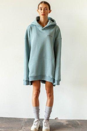 Oversized hoodie marine blue