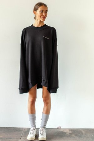 Oversized crewneck basic black