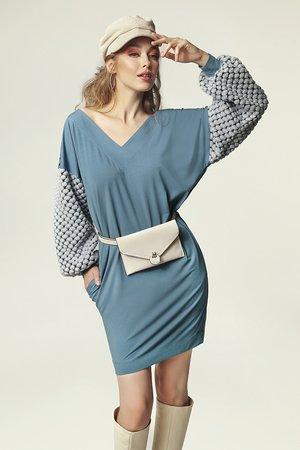 Sukienka grace j brudny niebieski