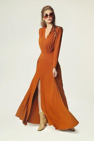 Sukienka pat karmel