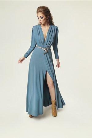 Sukienka pat brudny niebieski