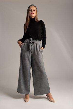 Spodnie szerokie w jodelke