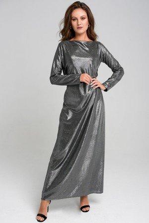 Srebrna dluga sukienka misha