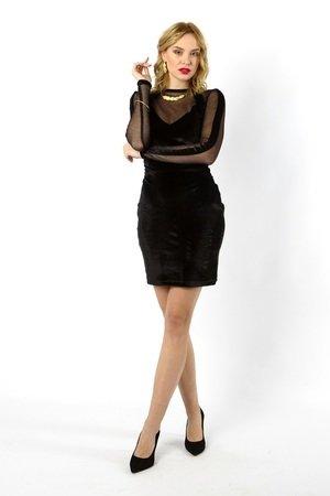 Tamashi czarna aksamitna sukienka