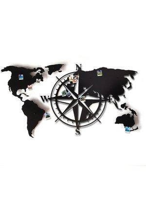 Stalowa mapa swiata compass 3d