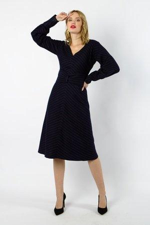 Marin sukienka w stylu marynarskim