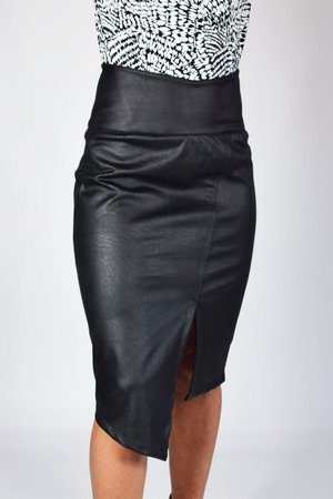 36 50   kopertowa spodnica eko skora czarna