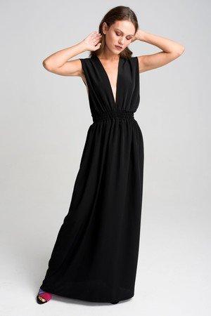 Dluga sukienka z regulowanymi szelkami dea