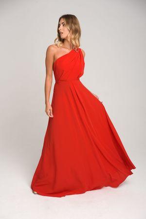 Suknia na jedno ramie gina