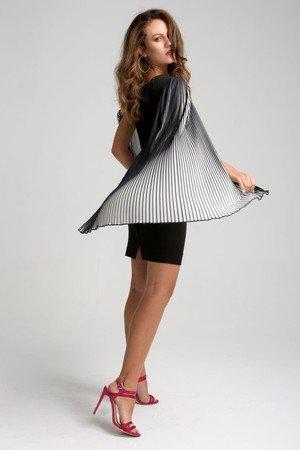 Sukienka z plisowanymi rekawami