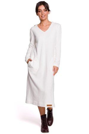 B128 sukienka maxi z kapturem