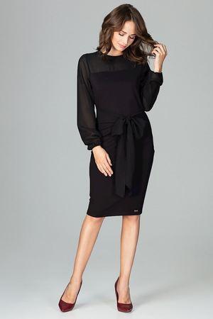 Sukienka k494 czarny