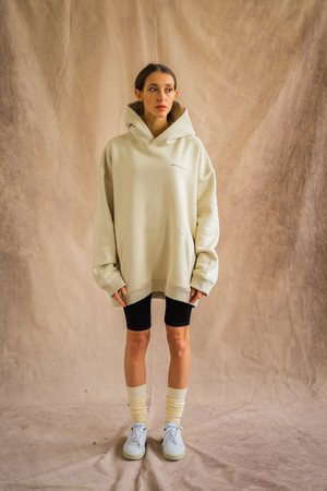 Oversized hoodie sand